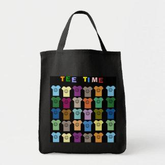 La bolsa de asas del tiempo de la camiseta