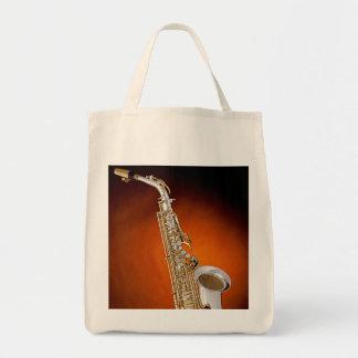 La bolsa de asas del ultramarinos del saxofón