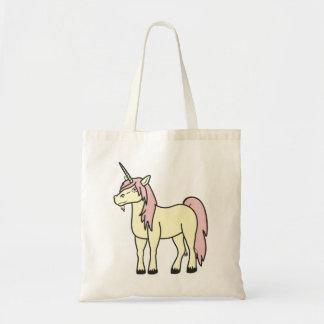 La bolsa de asas del unicornio de los rosas bebés