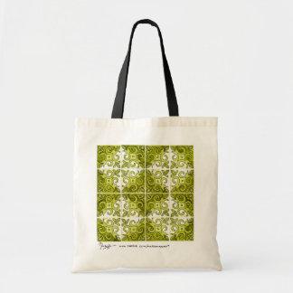 La bolsa de asas del verde del arte de la teja