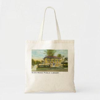 La bolsa de asas del vintage de la biblioteca públ