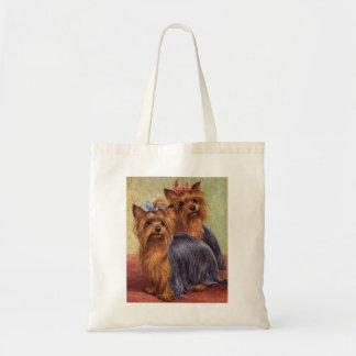 La bolsa de asas del vintage de Yorkshire Terrier