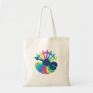 La bolsa de asas del violín del arco iris