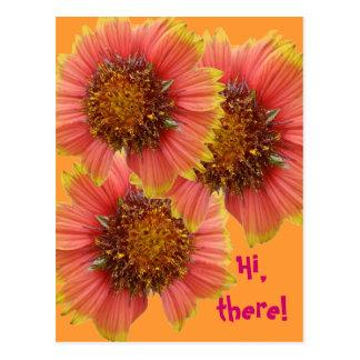 La bolsa de asas del Wildflower del Gaillardia (fl Tarjetas Postales