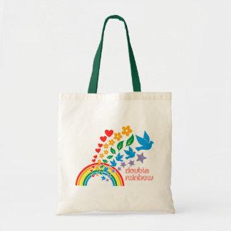 La bolsa de asas doble del arco iris