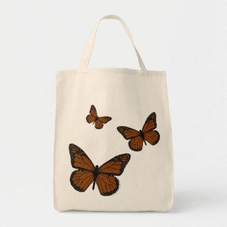 La bolsa de asas Doodled de la luz del monarca