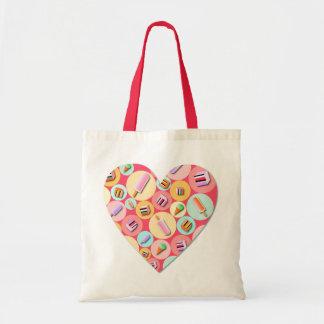 La bolsa de asas dulce del corazón del amor del ca