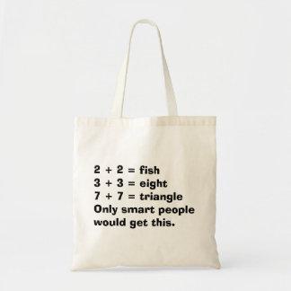 La bolsa de asas elegante de la matemáticas de la