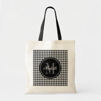 La bolsa de asas elegante elegante del monograma