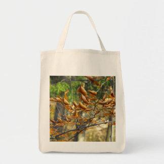 La bolsa de asas encrespada de las hojas