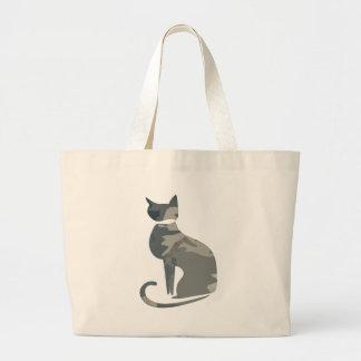 La bolsa de asas enorme 2 del gato de Camo