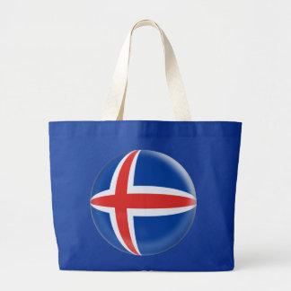 La bolsa de asas enorme con la bandera del islandé