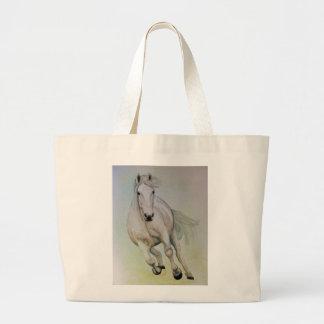 """La bolsa de asas enorme del """"caballo blanco"""""""