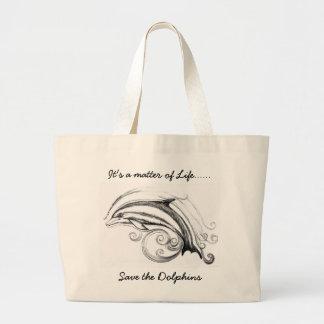 La bolsa de asas enorme del delfín