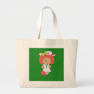 La bolsa de asas enorme verde de Neko del navidad