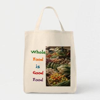 La bolsa de asas entera de la comida