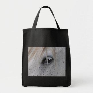 La bolsa de asas equina de la fotografía del ojo d