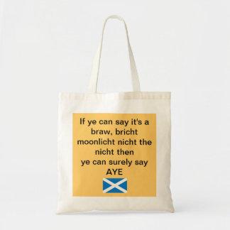 La bolsa de asas escocesa Braw de la independencia