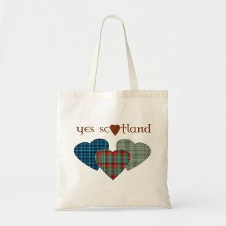 La bolsa de asas escocesa de los corazones del amo