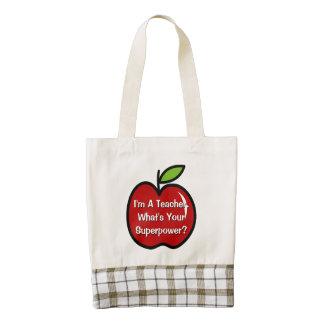 La bolsa de asas estupenda del profesor con la bolsa tote zazzle HEART