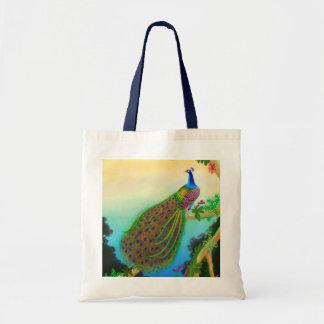 La bolsa de asas exótica del pavo real
