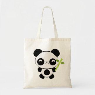 La bolsa de asas feliz de la panda del bebé