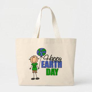 La bolsa de asas feliz del Día de la Tierra