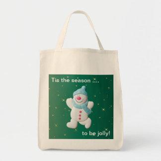 La bolsa de asas feliz del navidad de la novedad d