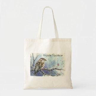 La bolsa de asas femenina del gorrión de casa