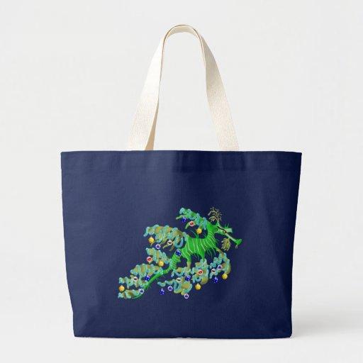 La bolsa de asas festiva del dragón del mar
