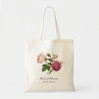 La bolsa de asas floral botánica personalizada del