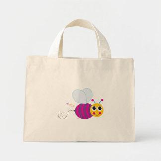 La bolsa de asas floral de la abeja feliz - modifi