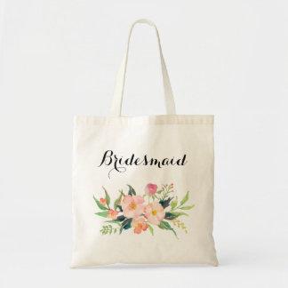 La bolsa de asas floral de la dama de honor