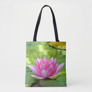La bolsa de asas floral de Lotus de agua de la