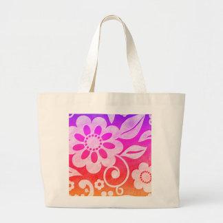 La bolsa de asas floral del chapoteo del color