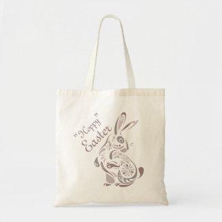La bolsa de asas floral del conejito