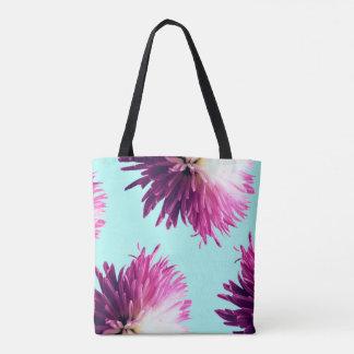 La bolsa de asas floral del contraste