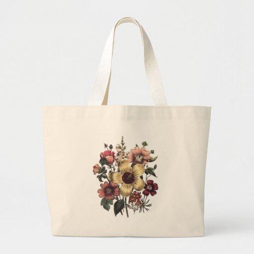 La bolsa de asas floral del melocotón del arándano