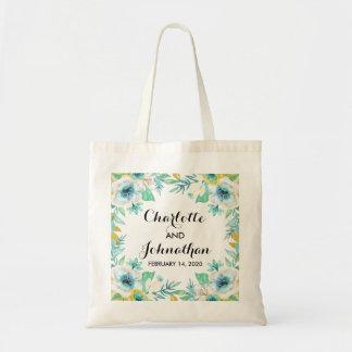 La bolsa de asas floral del presupuesto del boda