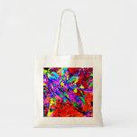 La bolsa de asas floral del regalo del arte abstra