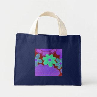 La bolsa de asas floral maravillosa mini