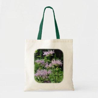 La bolsa de asas floral púrpura de la naturaleza d