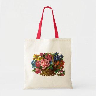 La bolsa de asas floral/que cultiva un huerto