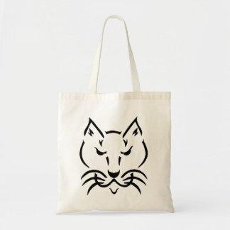 La bolsa de asas fresca del presupuesto del gato