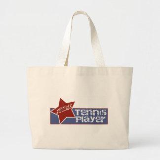 La bolsa de asas futura del jugador de tenis de lo