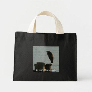 La bolsa de asas:  Garza de gran azul