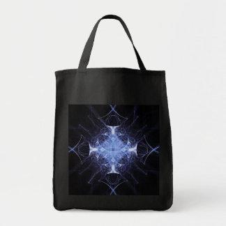 La bolsa de asas gótica azul de princesa Fractal
