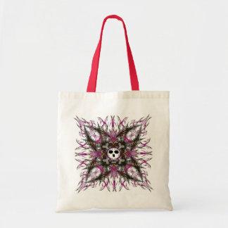 La bolsa de asas gótica rosada del fractal del crá
