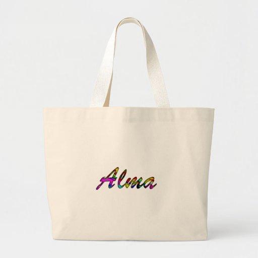 La bolsa de asas grande de la lona de Alma