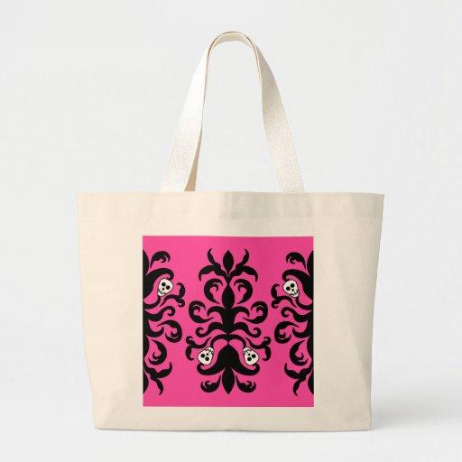 La bolsa de asas grande del damasco gótico lindo e